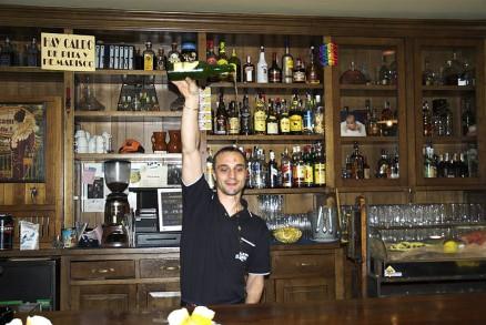 Pouring cider, Gijon, Asturias, Spain